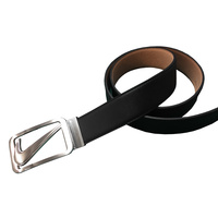 Nike Cutout Swoosh Belt - Black