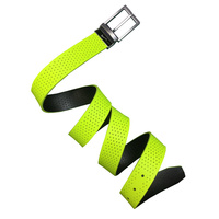 Nike Perforated Reversible Belt- Black/Volt