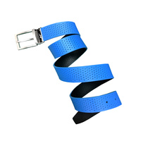 Nike Perforated Reversible Belt- Photo Blue/Black