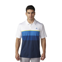 Adidas ClimaCool Engineered Striped Polo - Wht/Yel/Blk