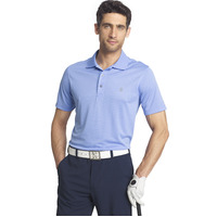IZOD Solid Grid Polo - Riviera Blue