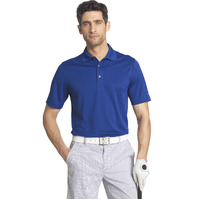 IZOD Solid Grid Polo - Cobalt Blue