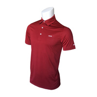 IZOD SS Legends Tonal Stripe Polo - Red Dhalia