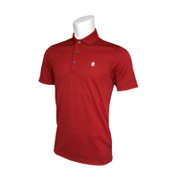 IZOD Fashion Grid Polo - Red Dahlia