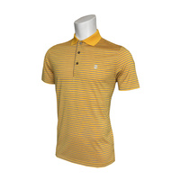 IZOD Feeder Fashion Stripe Polo - Old Gold