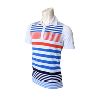 IZOD SS Engineered Stripe Polo