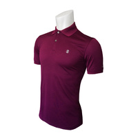 IZOD SS Texture Stripe Polo - Dark Purple