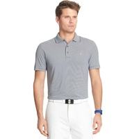 IZOD SS Greenie Feeder Stripe Polo - Midnight