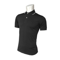 IZOD SS Solid Ply Piq Polo - Black