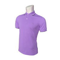 IZOD SS Solid Ply Piq Polo - Dahlia Purple