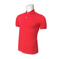 IZOD SS Solid Ply Piq Polo - Real Red