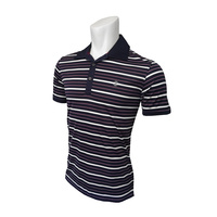 IZOD SS On A Boat Auto Stripe Oxford Polo - Deep Purple