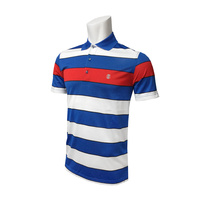 IZOD SS Eagle Wide YD Stripe Polo - STRONG BLUE