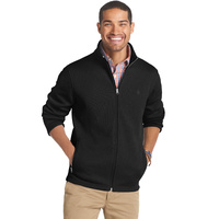 IZOD LS Shaker Fleece Full Zip Jacket - Black