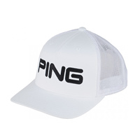 Ping Tour Mesh Cap - White/Black