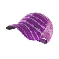 Nike Ladies Stripe Mesh Cap - BERRY