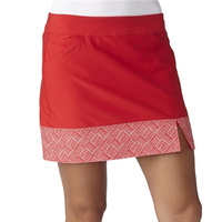 Adidas Tour Print Hem Ladies Skort - Red