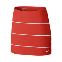 Nike Ladies Tournament Knit Stripe Skort - CRIMSON