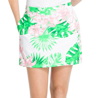 IZOD Ladies Floral Printed Knit Skort - Bright White