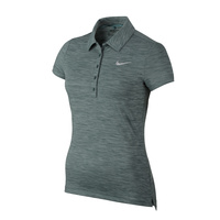 Nike Ladies Precision Heather Polo - HASTA METALLIC SILVER