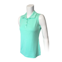 IZOD Ladies Sleeveless Knt Cllr Solid Polo - Ice Green