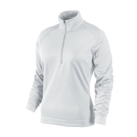 Nike Ladies Thermal Sport 1/2 Zip Pull Over - WHITE