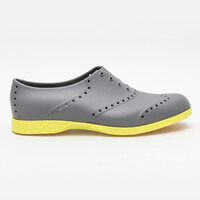Biion Oxford Brights Men's Shoes - Grey Neon Green
