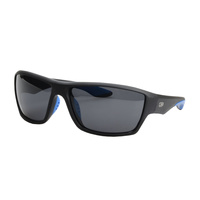 Striker SS1 Sunglasses - BLACK/BLUE WITH SMOKE LENS