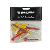 "Brosnan Assorted Wood Tees - 2 1/8"" (15 PK)"