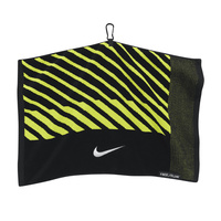 Nike Face/Club Jacquard Towel - Black/Volt
