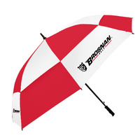 "Brosnan Tour Classic Windbuster 68"" Umbrella - RED/WHT"