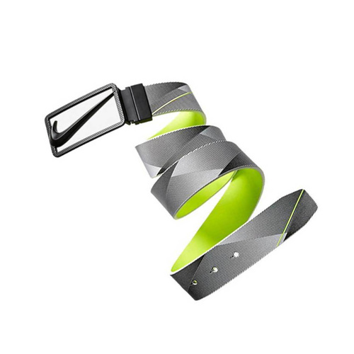 Nike Swoosh Cutout Print Reversible Belt - Multi