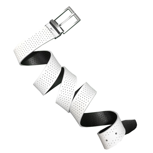 Nike Perforated Reversible Belt- White/Black