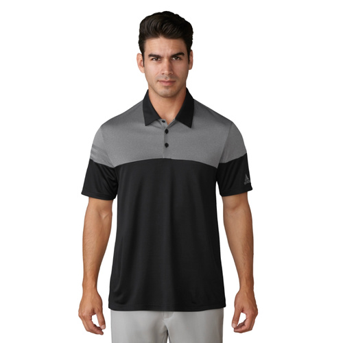 Adidas Puremotion Heather 3 Stripes Polo - Black [Size: Small]