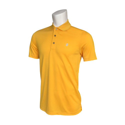 IZOD Fashion Grid Polo - Old Gold [Size: Medium]