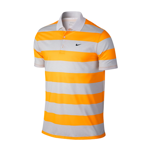 Nike Victory Bold Stripe Polo - VIVID ORANGE [Size: Small]