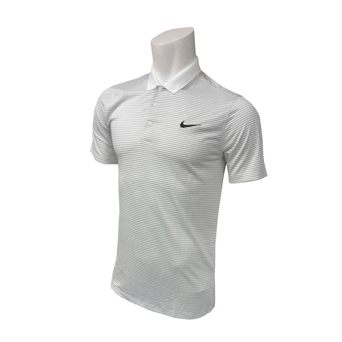 Nike Victory Mini Stripe LC Polo - White/Wolf Grey/Black [Size: Small]
