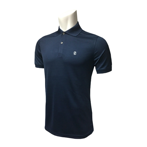 IZOD SS Texture Stripe Polo - MIDNIGHT [Size: Small]
