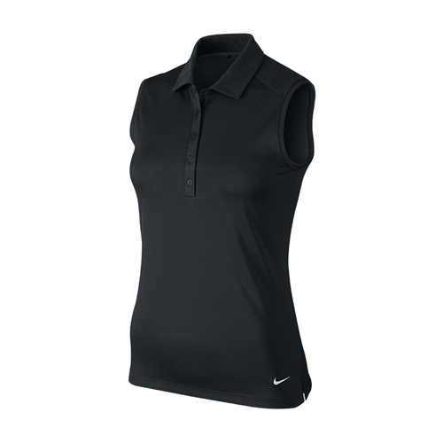 Nike Women's Victory Solid Sleeveless Polo - BLACK [Size: Small]