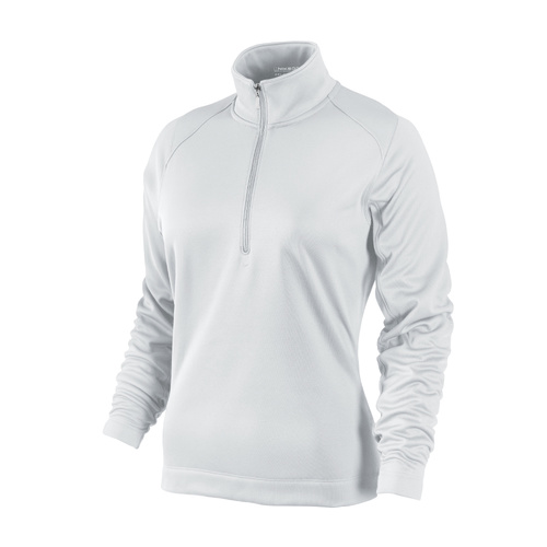 Nike Ladies Thermal Sport 1/2 Zip Pull Over - WHITE [Size: Small]