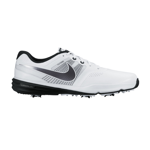 Nike Lunar Command Golf Shoes - White/Mtlc Cool Grey- Black [Size: 7.5 US]
