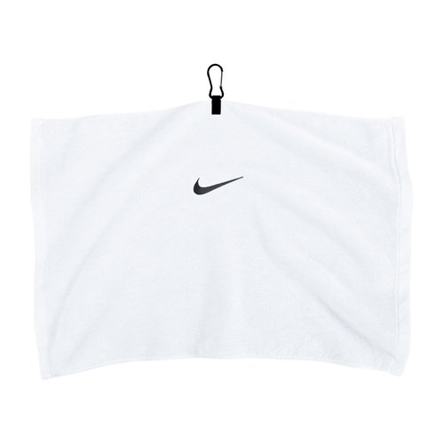 Nike White Embroidered Towel