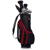 Titleist 14 Lightweight Cart Bag - Black Red