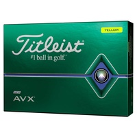 Titleist AVX Yellow 1 Dozen Golf Balls