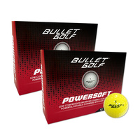 Bullet Powersoft Yellow Golf Balls - 2 Dozen