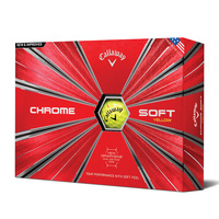 Callaway Chrome Soft 2018 Yellow Golf Balls - 1 Dozen