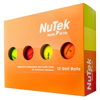 Prosimmon Nutek Golf Balls Matte Multi Colour