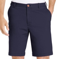 IZOD Flat Front Stretch Chino Shorts - Cadet Navy