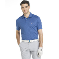 IZOD SS Greenie Feed Strip Jersey - Club Blue