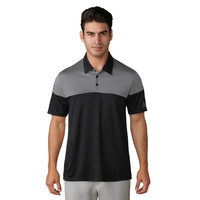 Adidas Puremotion Heather 3 Stripes Polo - Black